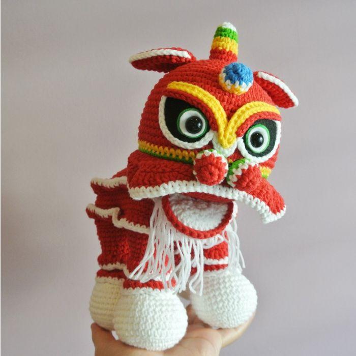 Lion Head for Lion Dance (Free Crochet Pattern) – One Zero Crochet | 700x700