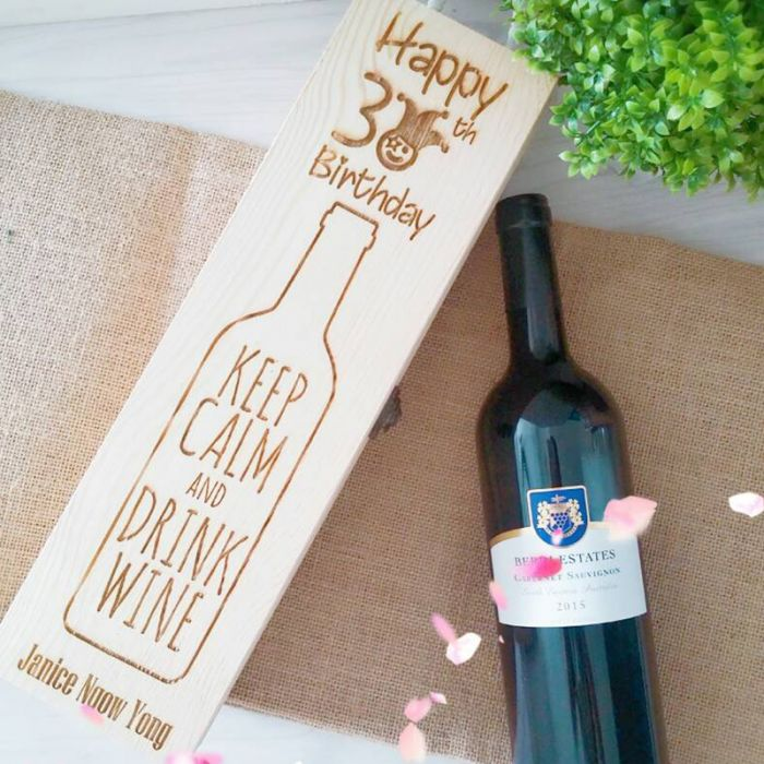 Personalized Wooden Wine Box