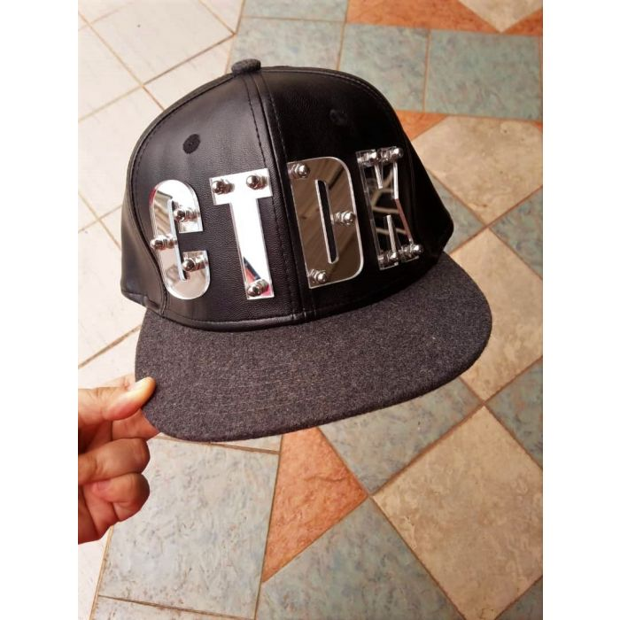 Name on Leather Snapback Cap Flat ( Adult) - Personalised Gifts Marketplace 6ffc2f0e71ac