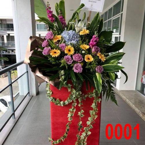 Opening Flower - Fresh Flower Modern Stand #0006