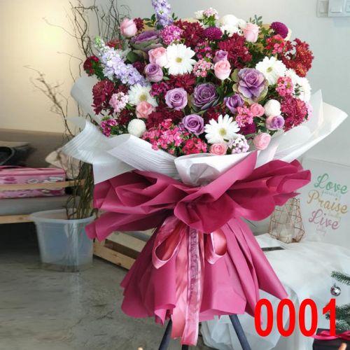 Opening Flower - Fresh Flower Modern Stand #0007