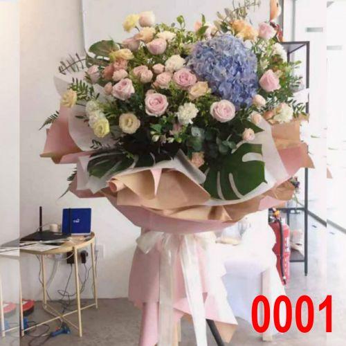 Opening Flower - Fresh Flower Modern Stand #0009