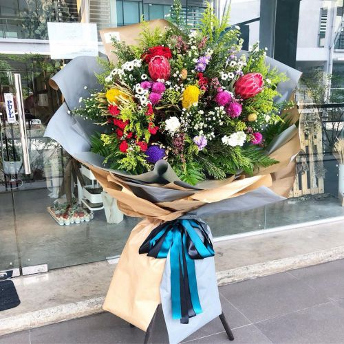 Opening Flower - Fresh Flower Modern Stand #0011