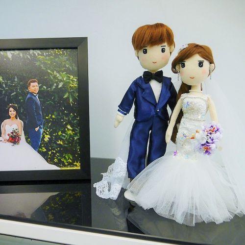 Customized Wedding Couple (Mermaid Dress)