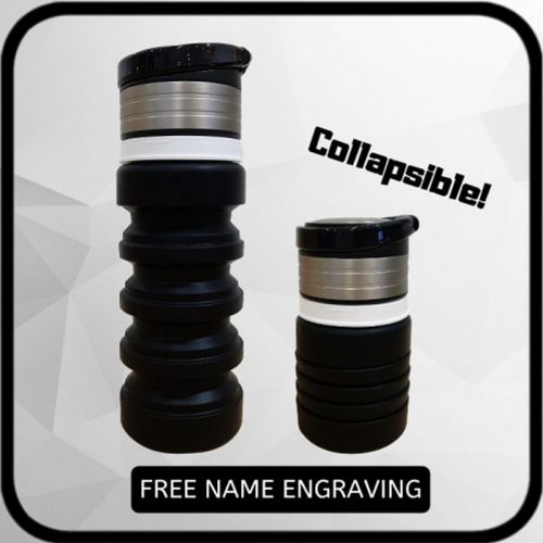 Portable Silicone Water Bottle [FREE Name Engrave]