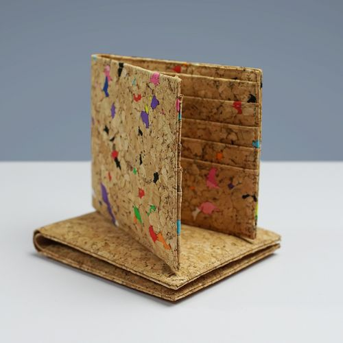 EcoQuote Eco Friendly Simple Bi Fold Wallet handmade Cork Material Great For Vegan, Environment Concious & Unique at Heart