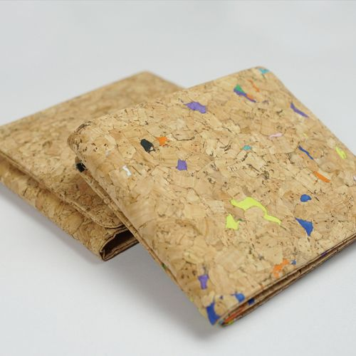 EcoQuote Tri-Fold Wallet Handmade Cork Eco-Friendly Material, Sustainable & Great For Vegan, Environment Concious Friends