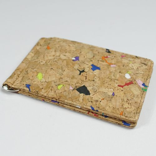 EcoQuote Money Clip Wallet Handmade Cork Eco-Friendly Material, Sustainable & Great For Vegan, Environment Concious Friends