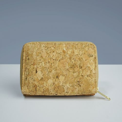 EcoQuote Cute Tri Fold Wallet Handmade Eco-Friendly Cork Material, Sustainable & Great For Vegan, Environment Concious Friends