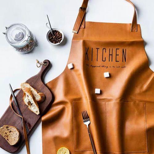 'KITCHEN' leather apron