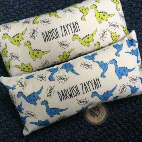 Personalised Cute Dinosaur Long Pillow