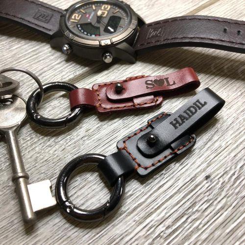 Laser Engrave Personalised Genuine Leather Key Holder