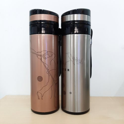 Glass Flask Tube (360 ml) + FREE NAME ENGRAVING