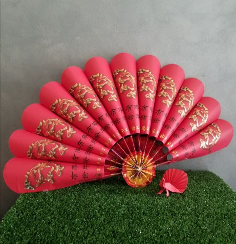 Fan-styled Chinese New Year Decoration Prop