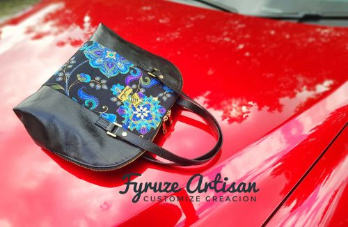 Fyruze Artisan Alma Noir leather bag