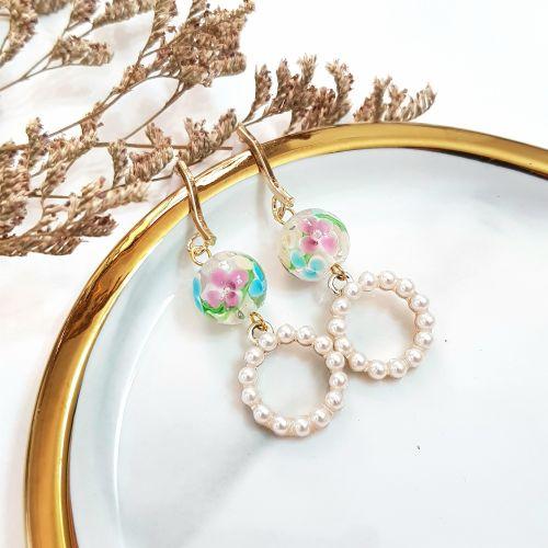 Clear ~ Flower Series Earring