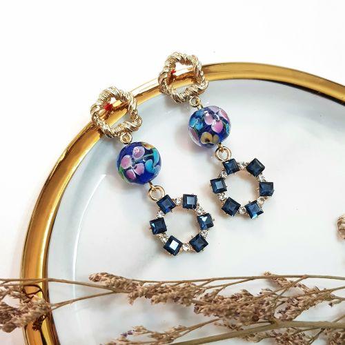 Blue ~ Flower Series Earring