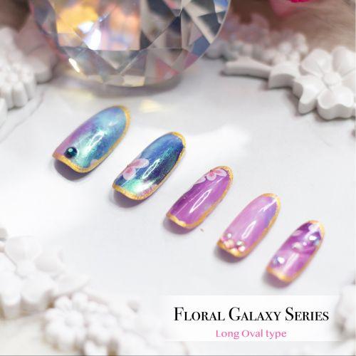 False Nails Floral Galaxy  Series