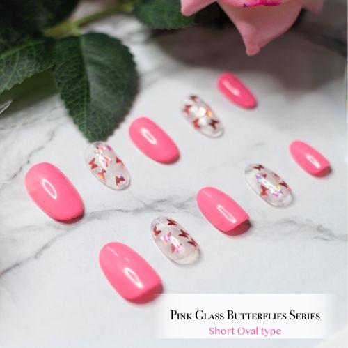 Pink Glass Butterflies Series
