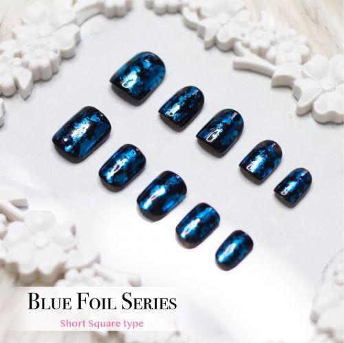 False Nails Blue Foil Series