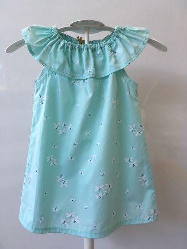 Seaside Dress - Ruffle Neck