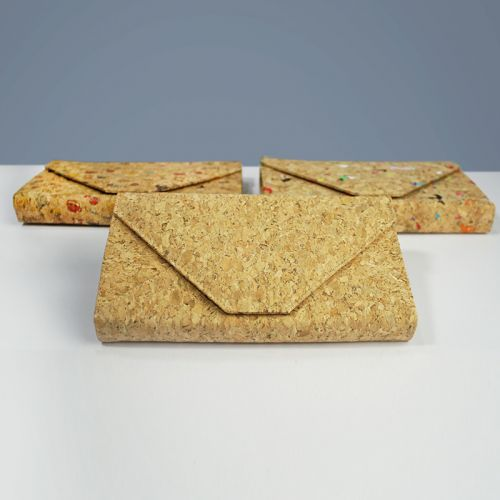EcoQuote Envelope Sling Bag Handmade Cork Material Eco-Friendly
