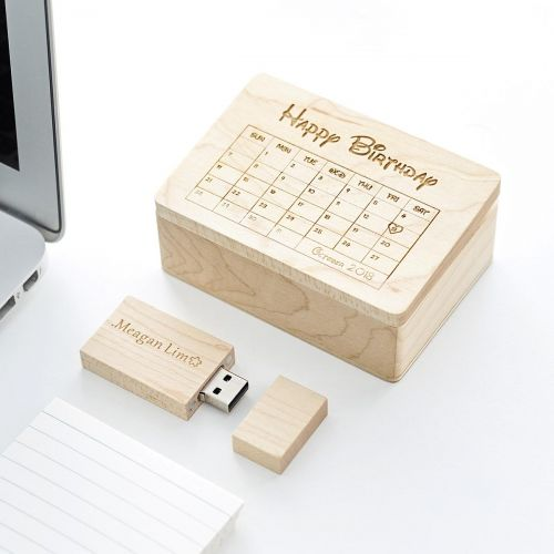 Personalized Wooden USB Flash Drive
