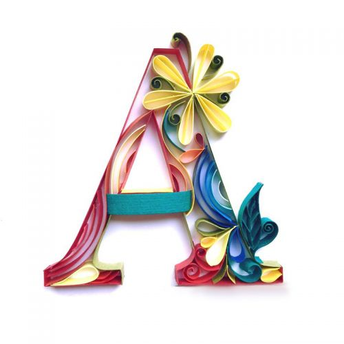 Personalized Paper Quilled Alphabets
