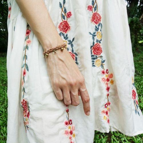 Macrame Brass Bell Bracelet 【BB01】