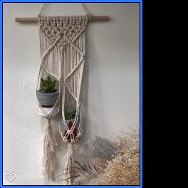 Handmade Diamond Macrame Mini Dual Plant Hangers