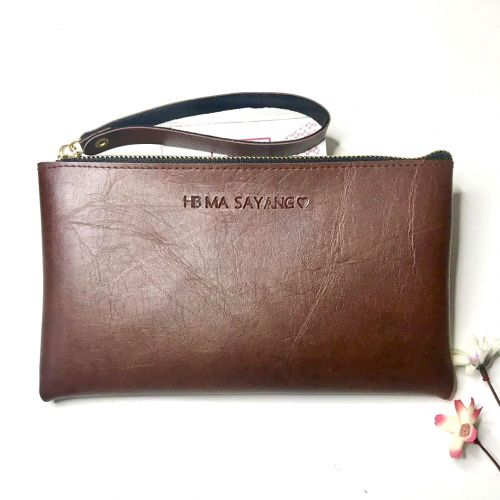 Personalised Unisex Clutch Wrislet PU Leather