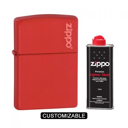 Zippo 233ZL Red Matte Lighter