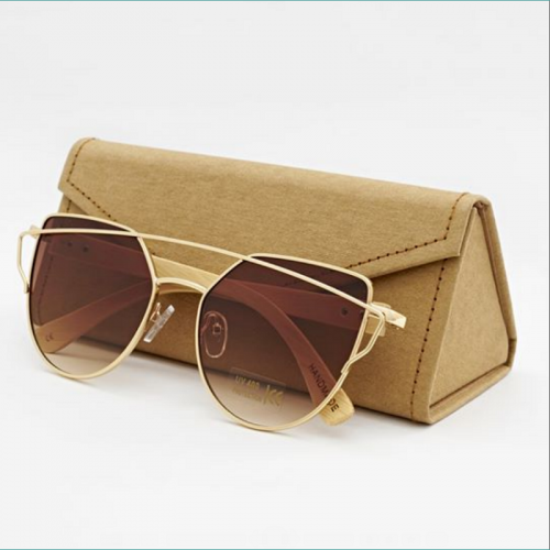 Cat eye Bamboo Sunglasses C010 (Wood like)