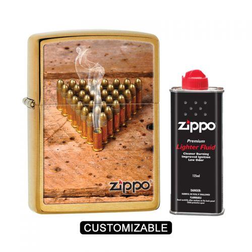 Zippo 28674 Smoking Bullets Brushed Lighter
