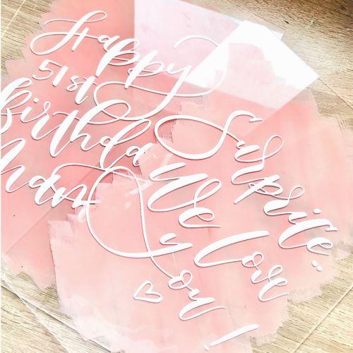 Calligraphy on Acrylic sheet