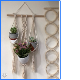 Handmade Tria Macrame Mini Plant Hanger