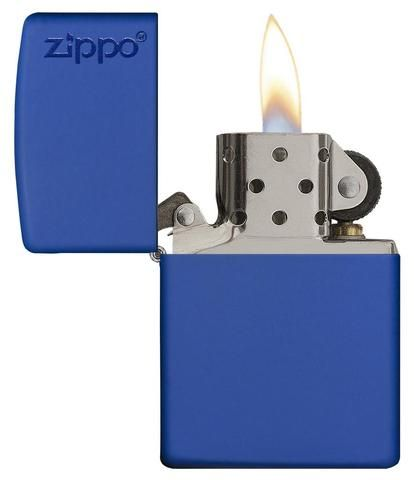 Zippo 229ZL Royal Blue Matte Lighter