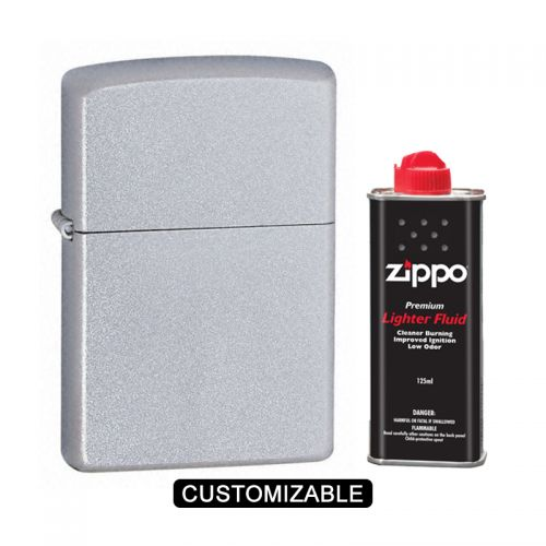 Zippo 205 Reg Classic Satin Chrome Lighter