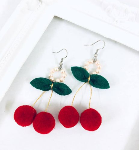 Cherries Earrings (2 Colours Available)
