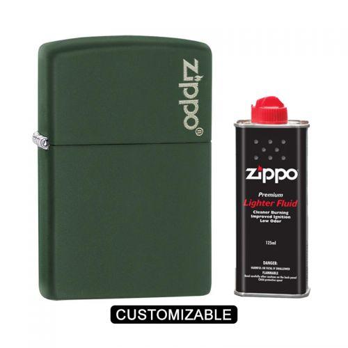 Zippo 221ZL Green Matte Lighter