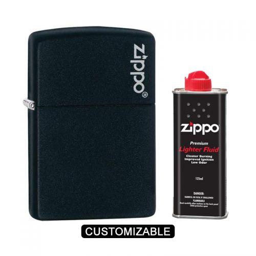 Zippo 218ZL Black Matte Lighter