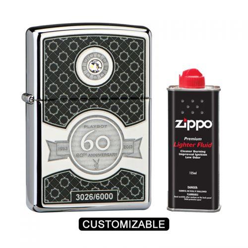 Zippo 28735 Playboy 60th Anniversary High Polish Chrome Limited Edition Lighter