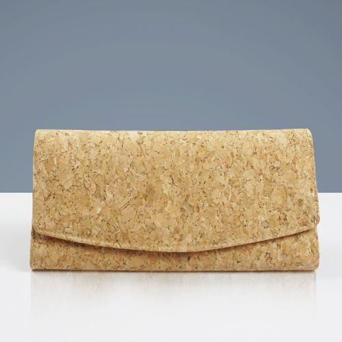 EcoQuote Tri Fold Long Wallet Handmade Cork Eco Friendly Material Great For Vegan, Environment Concious Friends