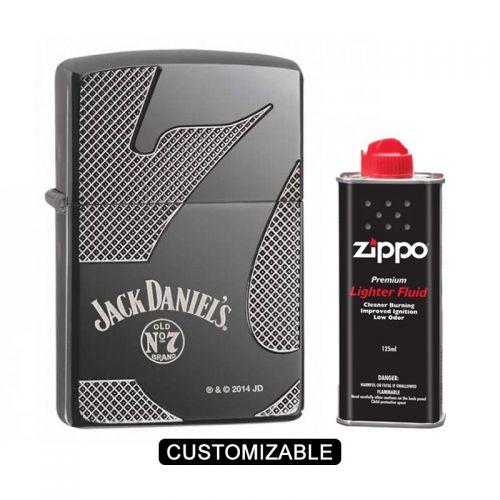 Zippo 28817 Jack Daniel's Armor Black Ice Lighter