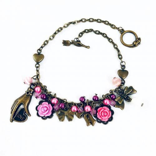 All About Floral & Ribbons Bracelet