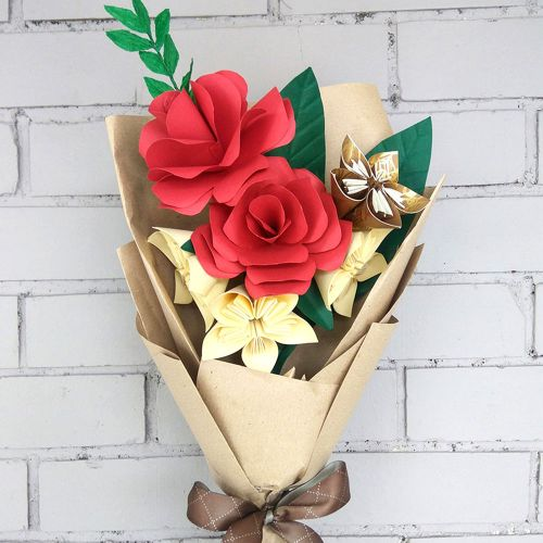 Paper Flowers Be My Valentine