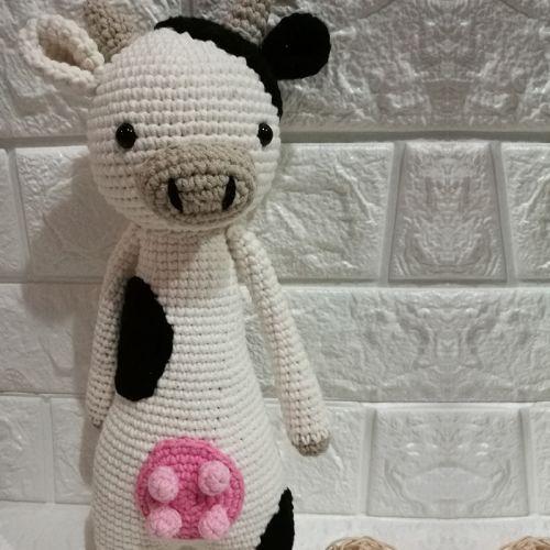 Handmade Amigurumi Milk Cow