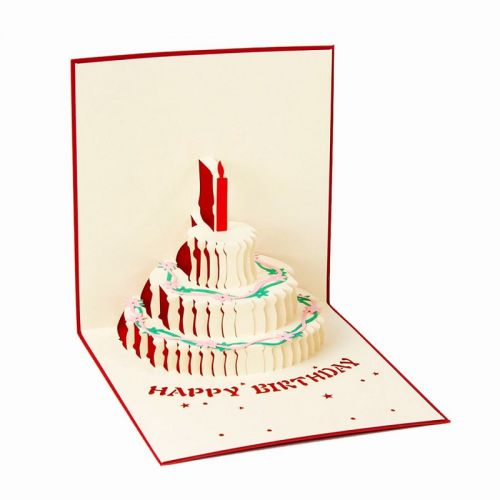 Handmade 3D Greeting Card - Birthday Cake