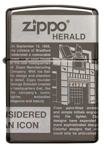 Zippo 49049 Newsprint Design Lighter