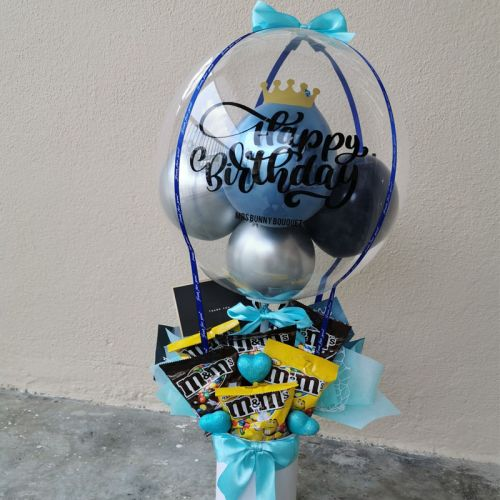Chocolate hot air balloon flower box